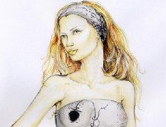 40个手绘时尚人物插画作品欣赏