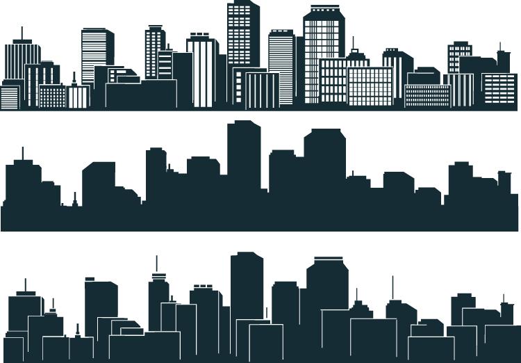 建筑剪影矢量图