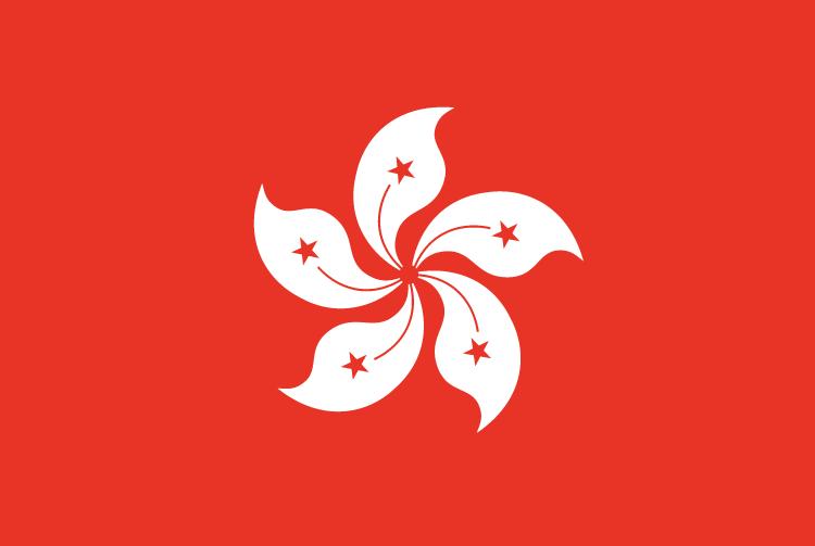 中华人民共和国香港特别行政区区旗是五星花蕊的动态紫荆花红旗。旗帜的底色是红色,与中华人民共和国国旗的底色一样,象征香港特别行政区是中华人民共和国的一部份。同时,中华文化以红色为喜庆的颜色,因此红色也有庆祝香港回归的意味。