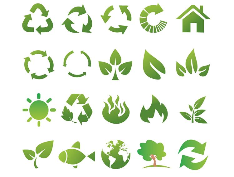 绿色环保生态图标矢量素材