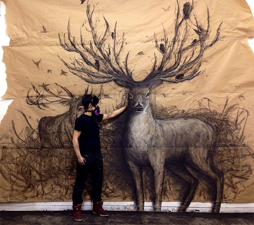 tang逼真的动物3d绘画作品