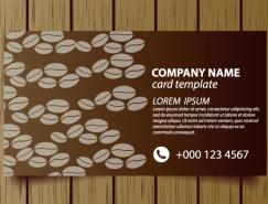 咖啡店名片模板矢量素材(2)