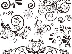 花卉花紋裝飾圖案矢量素材