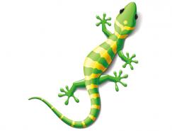 蜥蜴变色龙矢量素材