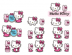 卡通人物Hello Kitty矢量素材