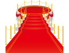 精致紅地毯矢量素材