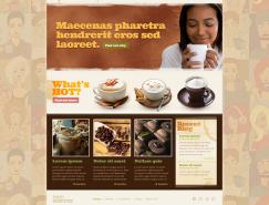 國外咖啡主題網頁模板PSD素材