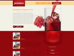 漂亮的果汁網頁模板PSD素材