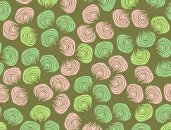 彩色贝壳元素无缝背景矢量素材