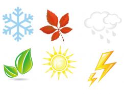 四季元素矢量素材