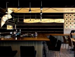時尚的懸浮折紙燈:特拉維夫One sushi壽司餐