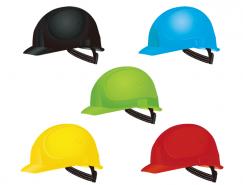 彩色安全帽矢量素材