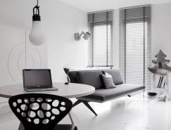纯粹的黑与白:波兰46平米小公寓设计