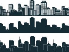 城市高楼背景剪影矢量素材