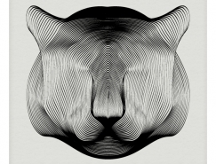 Andrea Minini创意黑白线条动物插画