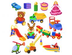 儿童玩具集锦矢量素材(2)