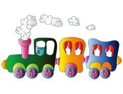 可爱卡通小火车矢量素材