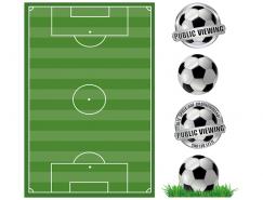 足球和足球場矢量素材