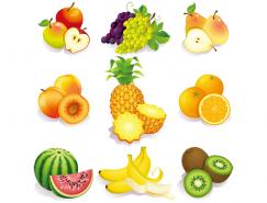 逼真水果图标矢量素材