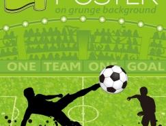 足球運動海報矢量素材