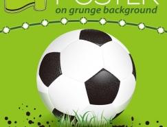足球海報矢量素材