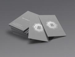 簡約風格灰色名片模板PSD素材