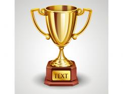 金色奖杯矢量素材(2)