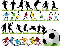 足球運動人物剪影矢量素材(2)