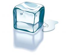 透明冰块矢量素材
