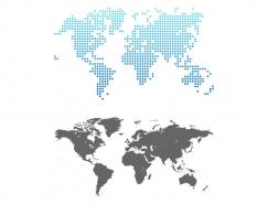 点状世界地图矢量素材
