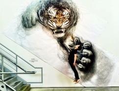 Fiona Tang逼真的动物3D绘画作品