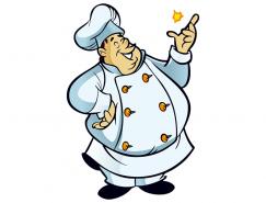 卡通胖廚師矢量素材