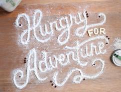 Marmalade Bleue:创意食物字体设计