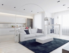 Polinova Paul:白色简约公寓澳门金沙网址