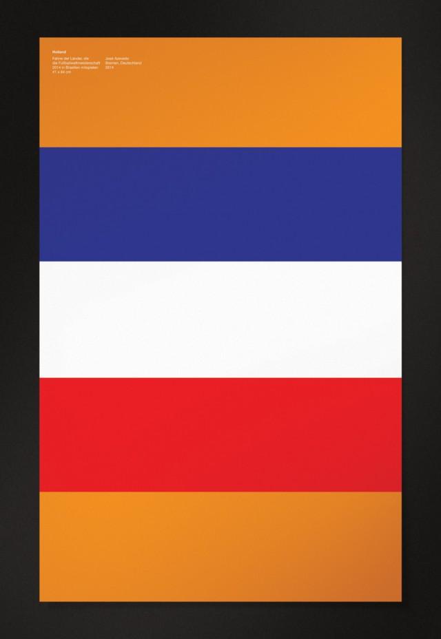 巴西世界杯32强国旗主题海报设计(3)