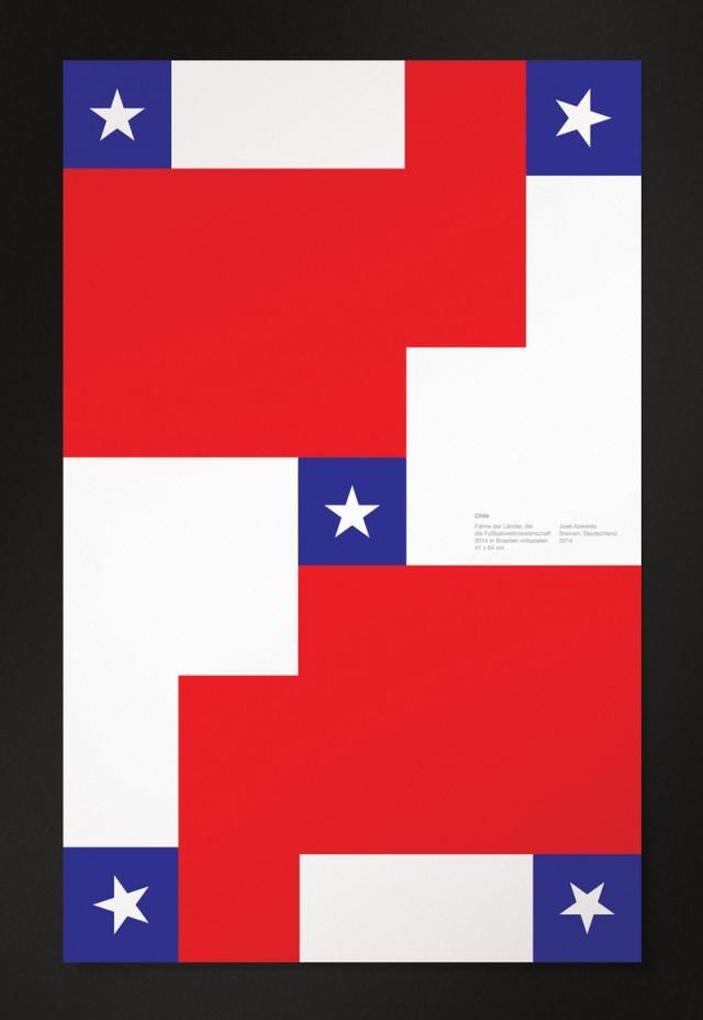 巴西世界杯32强国旗主题海报设计(4)