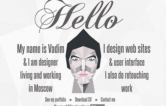 多边形风格网页设计欣赏