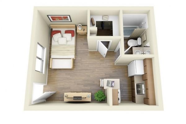 室内装修带3d效果图 平面布置图   企业办公室装修3d效果