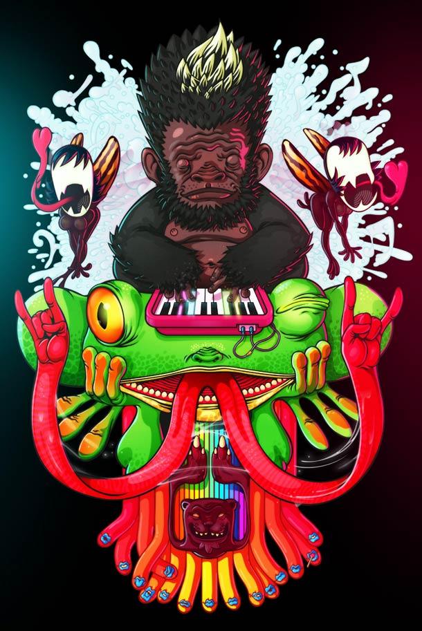 墨西哥插画家Rafael Aguilar作品欣赏