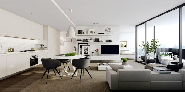 國外現代簡約風格公寓室內設計