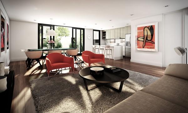 国外现代简约风格公寓室内设计
