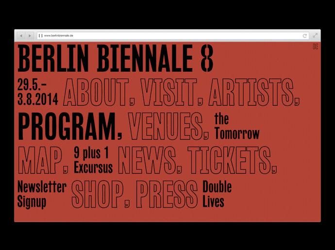 2014柏林双年展视觉形象设计