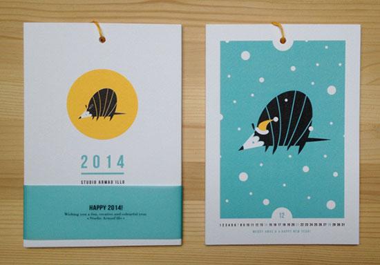 48个创意日历设计欣赏图片