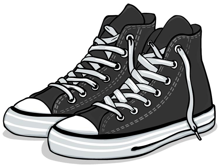 高帮帆布鞋矢量素材
