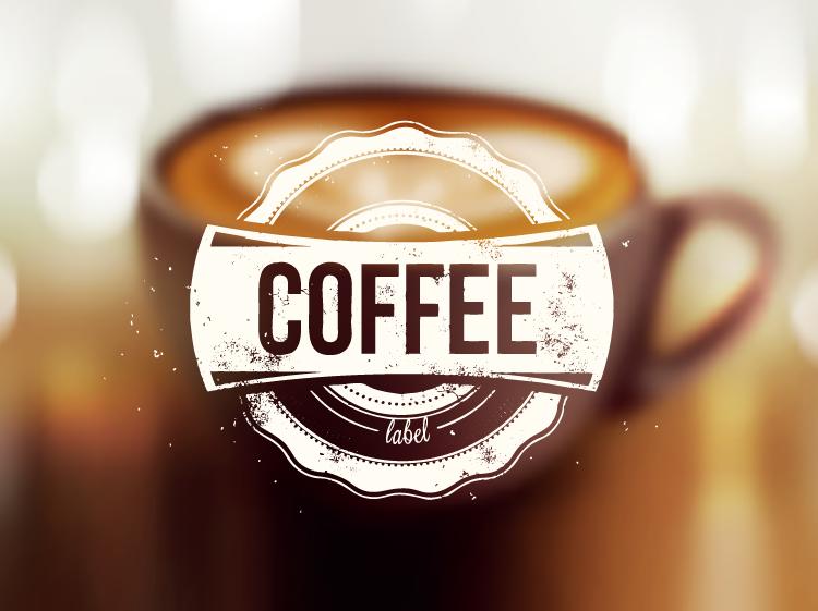 咖啡模糊背景矢量素材