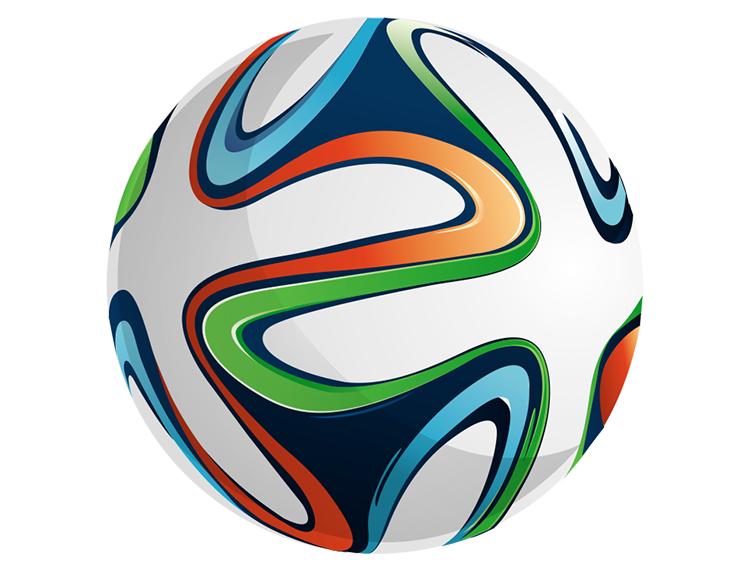 2014巴西世界杯足球矢量素材