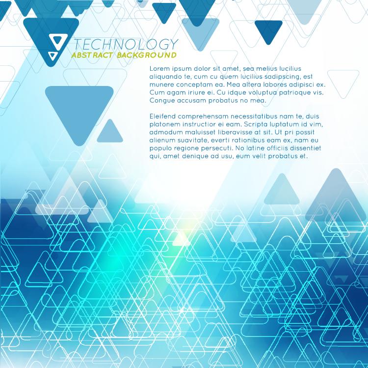 三角形科技抽象背景矢量素材(2)