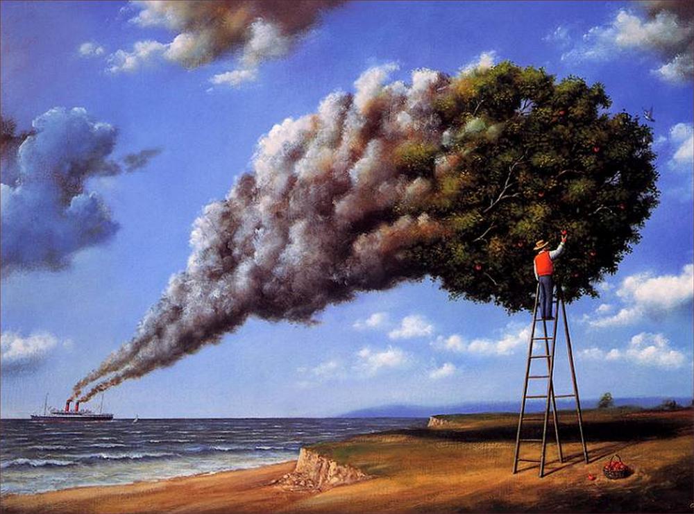 rafal olbinski超现实主义绘画作品(3)