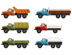 運輸卡車矢量素材