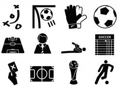 足球元素圖標矢量素材